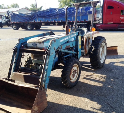 Ford 1710 Loader : Ford diesel farm tractor w front end loader and