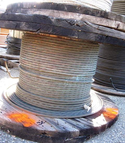 Copper Stranded Ground Wire 3 Partial Reel