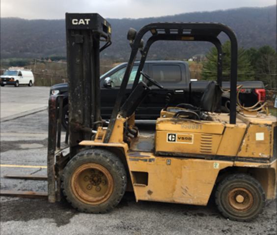 1988 CAT V50D LP Forklift 5000 lb Capacity (950081)