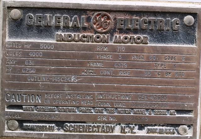 GE Motor 5000 HP