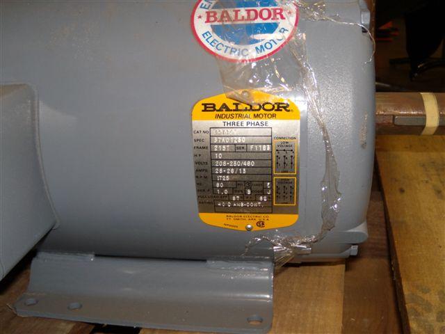 Baldor electric motor for Baldor motor serial number lookup