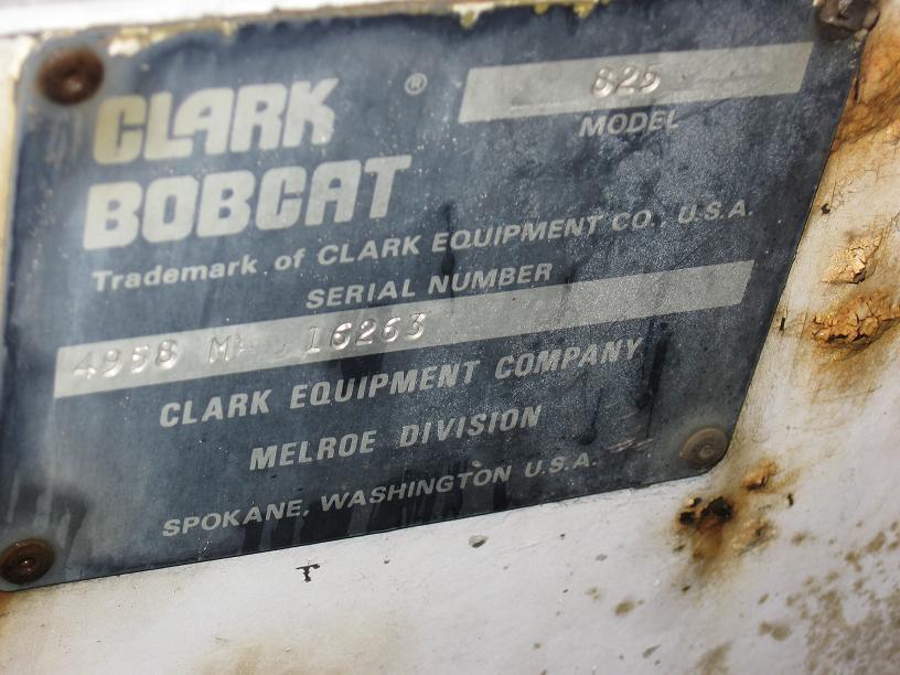 Bobcat Skid Steer 825