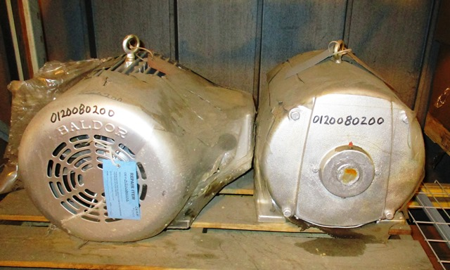 GE & Baldor 30 HP Electric Motors - 3550 RPM - 550 VAC (Qty-2 Motors)