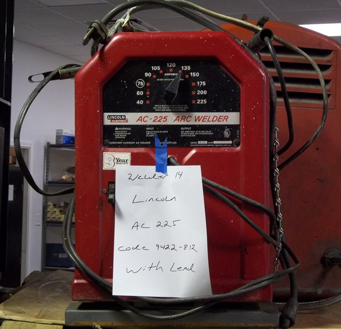 lincoln ac 225 arc welder w welding leads (rops14) Lincoln 225 Arc Welder Schematic more auction product images aep surplus equipment aepid rops14 lincoln ac 225 arc welder