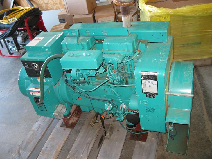 Generator: Onan 15 kW GenSet w/ Transfer Switch