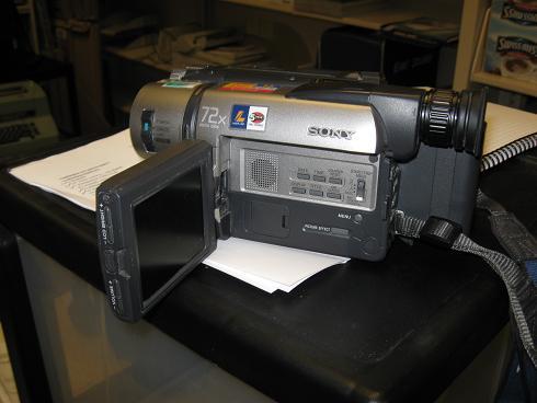 video camera sony handycam vision hi8 xr video camera