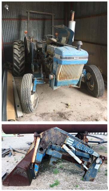 1986 Ford 3910 Tractor With Allied Front End Loader